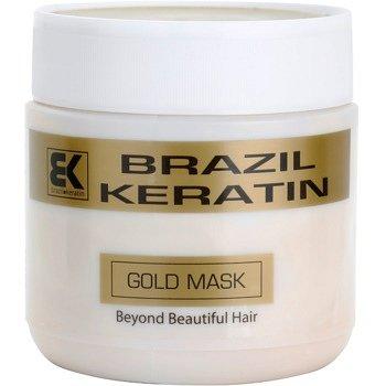 Brazil Keratin Gold keratinová regenerační maska pro poškozené vlasy  500 ml