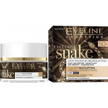 Eveline EXCLUSIVE SNAKE – luxusní denní a noční krém 50+ 50ml