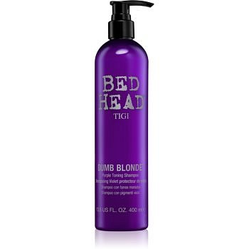 TIGI Bed Head Dumb Blonde fialový tónovací šampon pro blond vlasy  400 ml