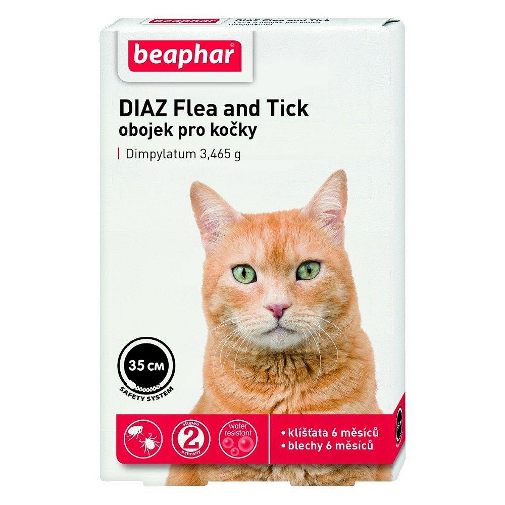 BEAPHAR DIAZ Flea&Tick antiparazitní obojek pro kočky 35 cm 1 ks