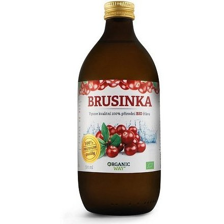 Brusinka Bio 100% šťáva premium quality 500ml