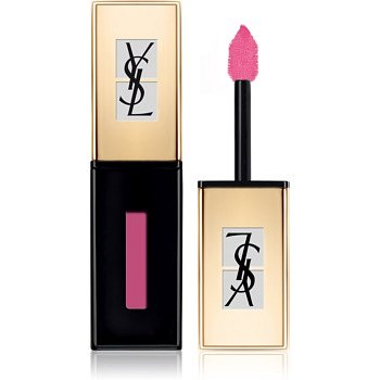 Yves Saint Laurent Vernis À Lèvres Pop Water rtěnka a lesk na rty 2 v 1 s mokrým efektem odstín 205 Pink Rain 6 ml