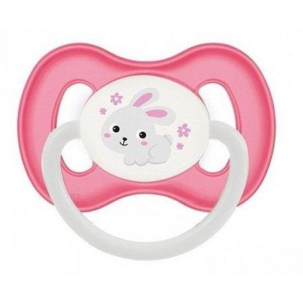 Canpol Babies Bunny and Company šidítko kaučuk třešinka růžová se zajíčkem