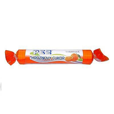 PEZ hroznový cukr s vitamín C pomerančový