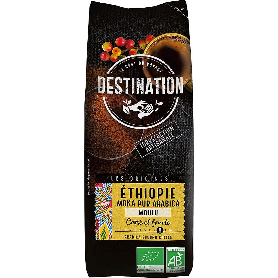 Destination Bio káva mletá Etiopie 250g
