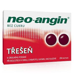 Neo-angin bez cukru Třešeň orální pastilky 24