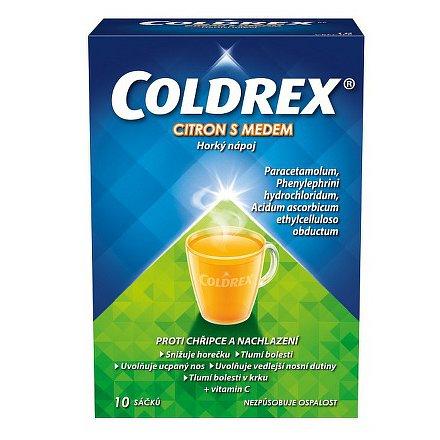 Coldrex horký nápoj citron a med 10 ks