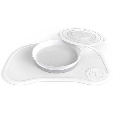 Protiskluzová Podložka Click Mat + talíř 6+m Bílá