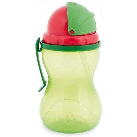 Sportovní láhev se slámkou new 370ml zelená