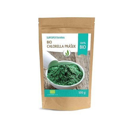 Allnature Chlorella prášek BIO RAW 100 g