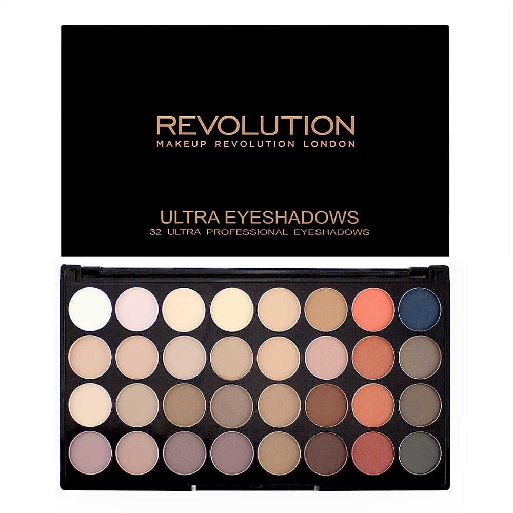 Makeup Revolution ultra paletka 32 očních stínů  Flawless Matte 2