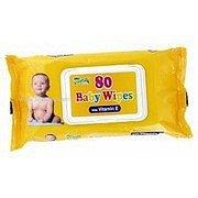 Ubrousky dětské hyg.Baby Wipes vitamín E 80 ks s distr.