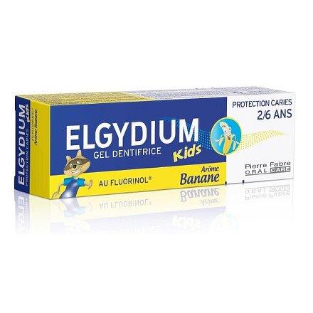 ELGYDIUM KIDS gelová zubní pasta s fluorinolem 2-6 let 50ml banán