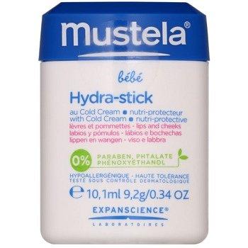 Mustela Bébé Hydra Stick ochranná hydratační tyčinka pro děti 10 ml