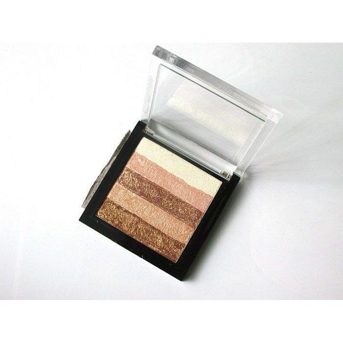 Makeup Revolution Shimmer Brick, bronzer a rozjasňovač  Rose Gold