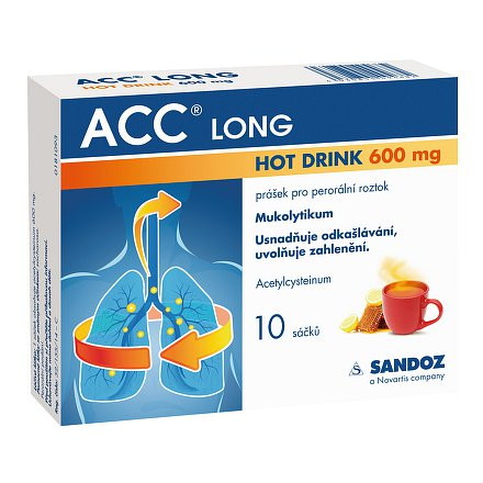 ACC long 600mg Hot drink 10 ks sáčků