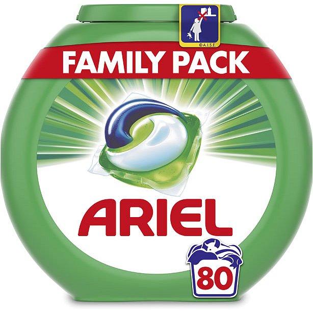 ARIEL Mountain Spring 80 ks - tablety na praní - Ariel Mountain Spring 3v1 gelové kapsle 80 ks