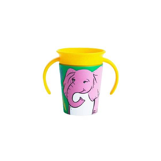 Munchkin - Juniorský hrneček WildLove 360° s oušky 177ml - slon 1ks