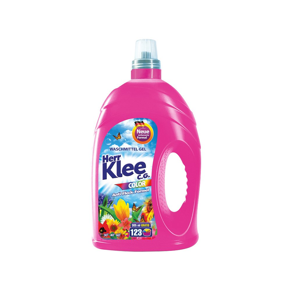 Herr Klee Color prací gel, 123 praní 4305 ml