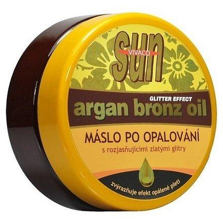 SUN VITAL Arganové máslo po opalování s glitry 200ml