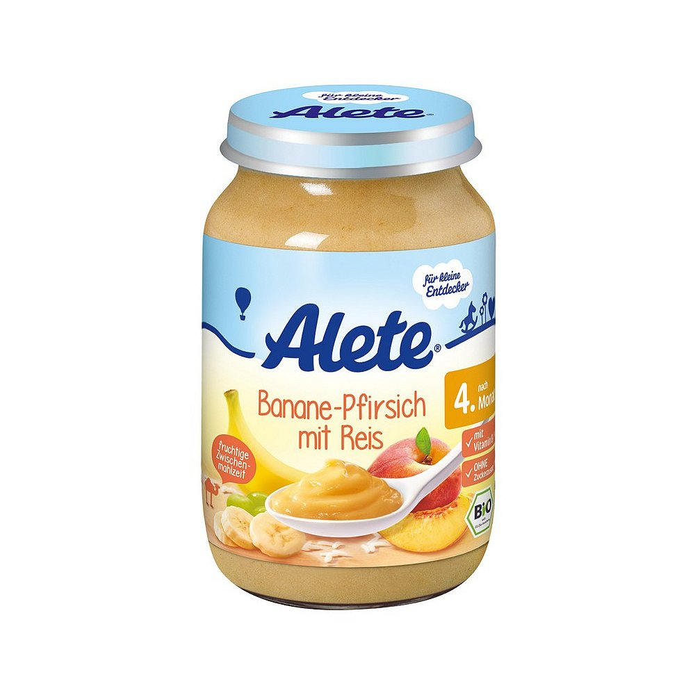 ALETE Bio Banán s broskví a rýží 190 g