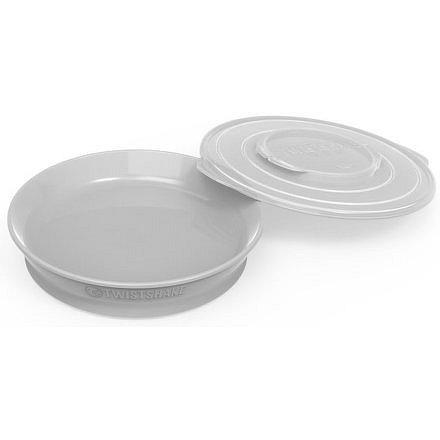Talíř 6+m Pastelově šedá