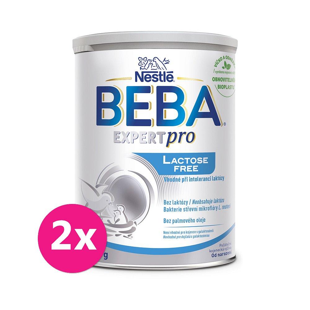 2x BEBA EXPERTpro Lactose free, počáteční mléčná kojenecká výživa, 0+, 400 g