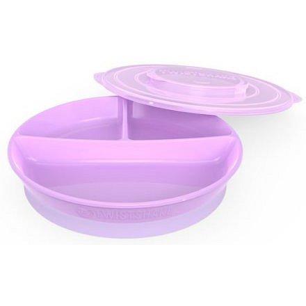 Dělený talíř 6+m Pastelově fialová