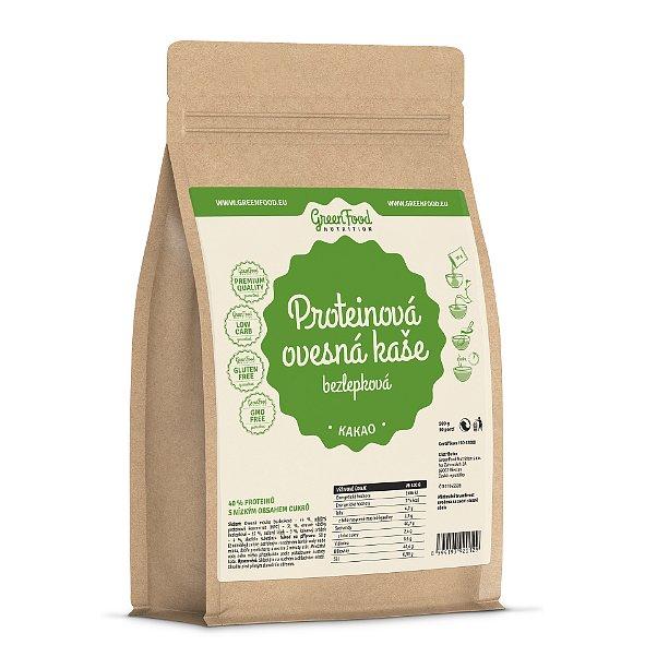 GreenFood Nutrition Proteinová ovesná kaše bezlepková kakaová 500g