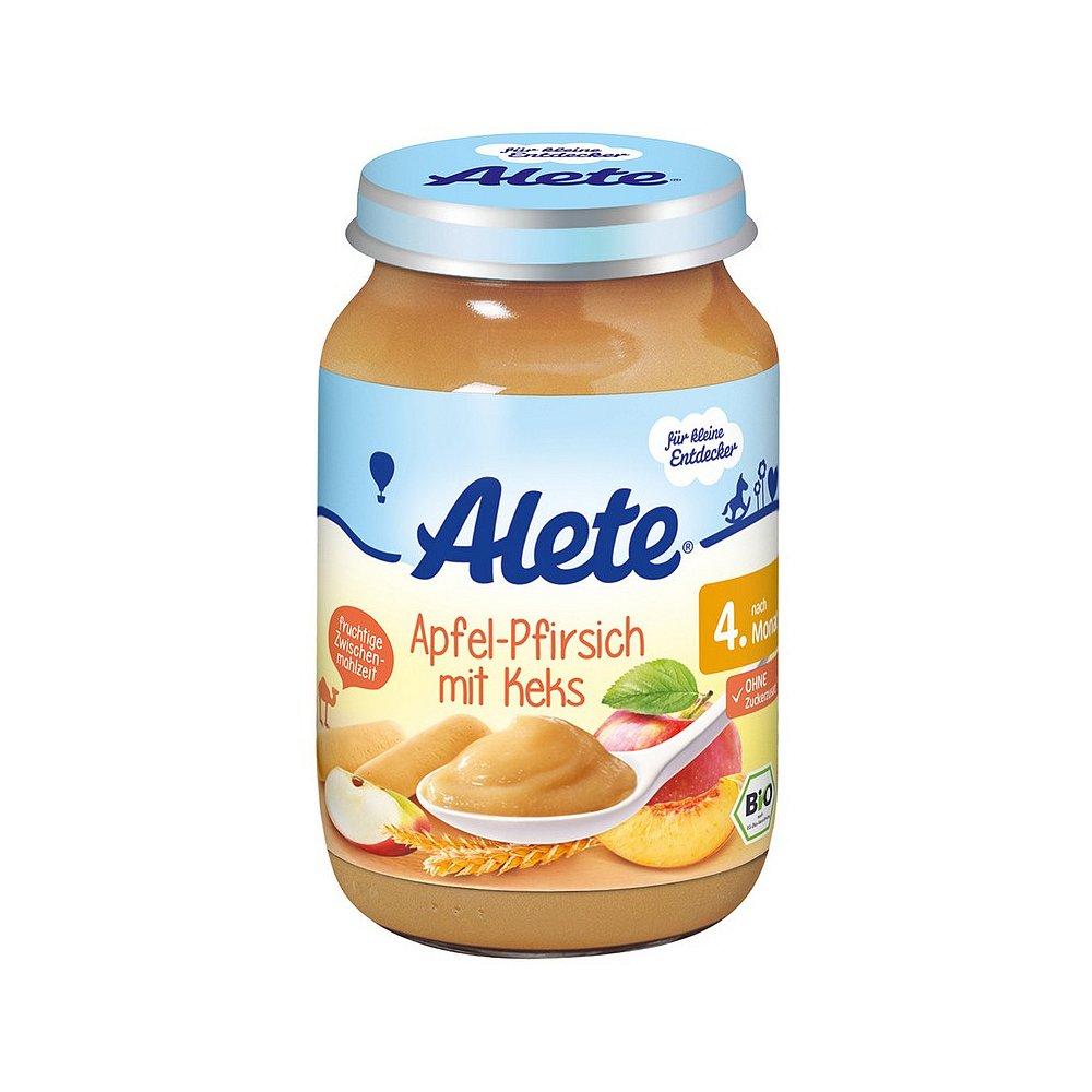 ALETE Bio Jablko s broskví a sušenkami 190 g