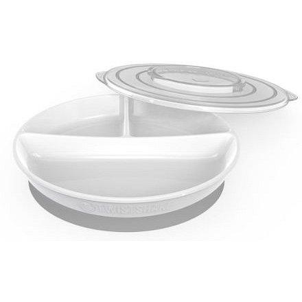 Dělený talíř 6+m Bílá