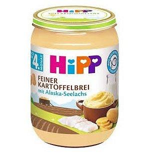 HiPP BABY Jemná bramborová kaše s aljašskou treskou 190g