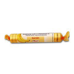 Intact rolička hroznový cukr s vitamín C - banán 40 g
