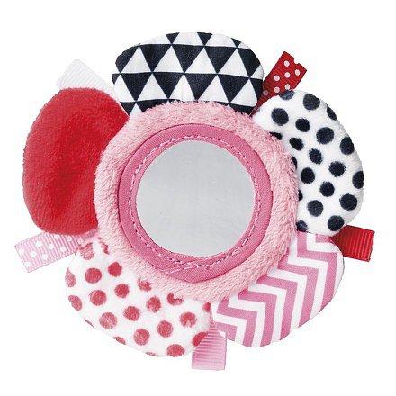 68/056_pin Šustící plyšová hračka na ruku se zrcátkem ZIG ZAG růžová