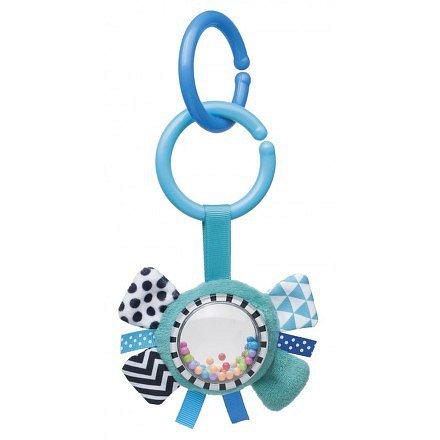 68/057_blu Šustící plyšová hračka s chrastítkem ZIG ZAG stuha modrá