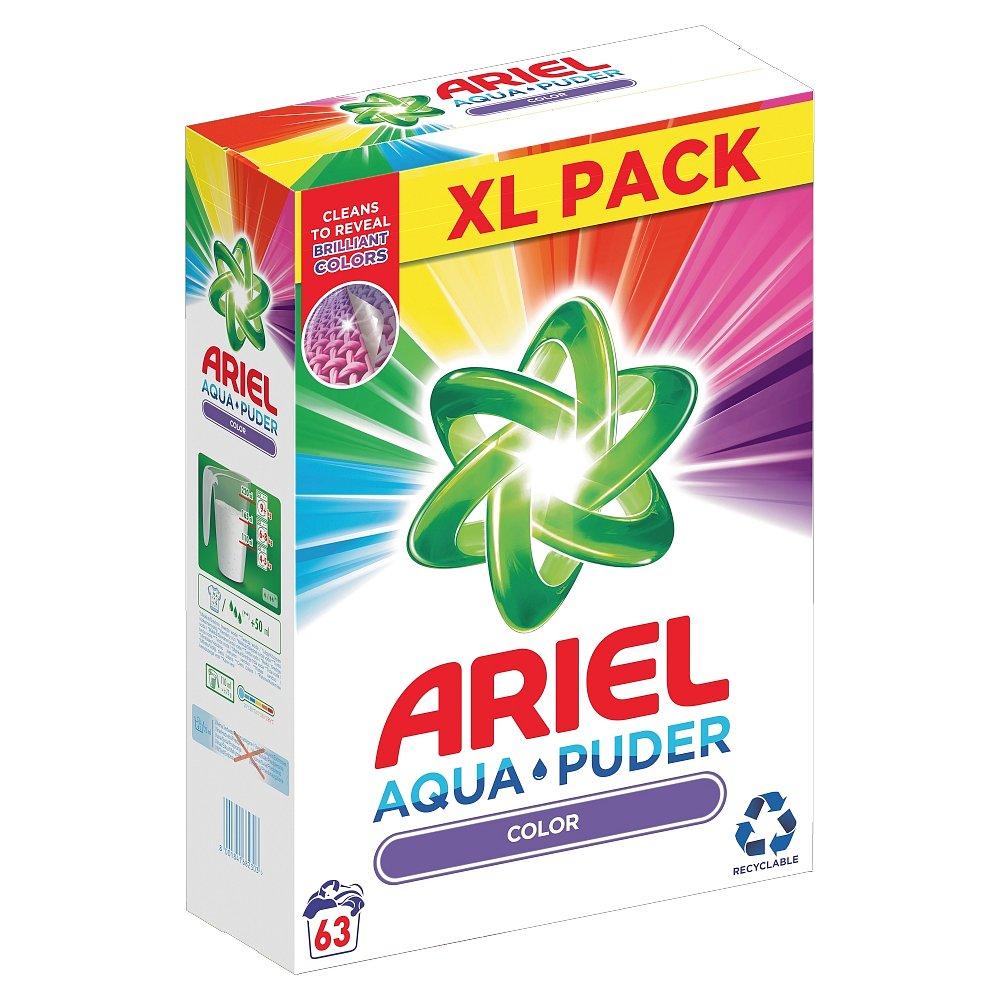 Ariel Prací prášek  AquaPuder Color, 63 praní 4,7 kg