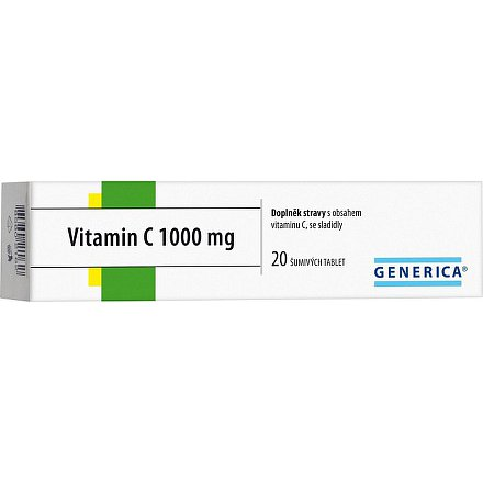 Vitamin C 1000 mg Generica tablety šumivé  20