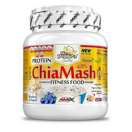 Mr.Popper´s Protein ChiaMash borůvka a jogurt 600g
