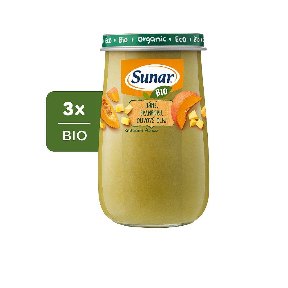 3x SUNAR BIO Dýně, brambory, olivový olej 190 g