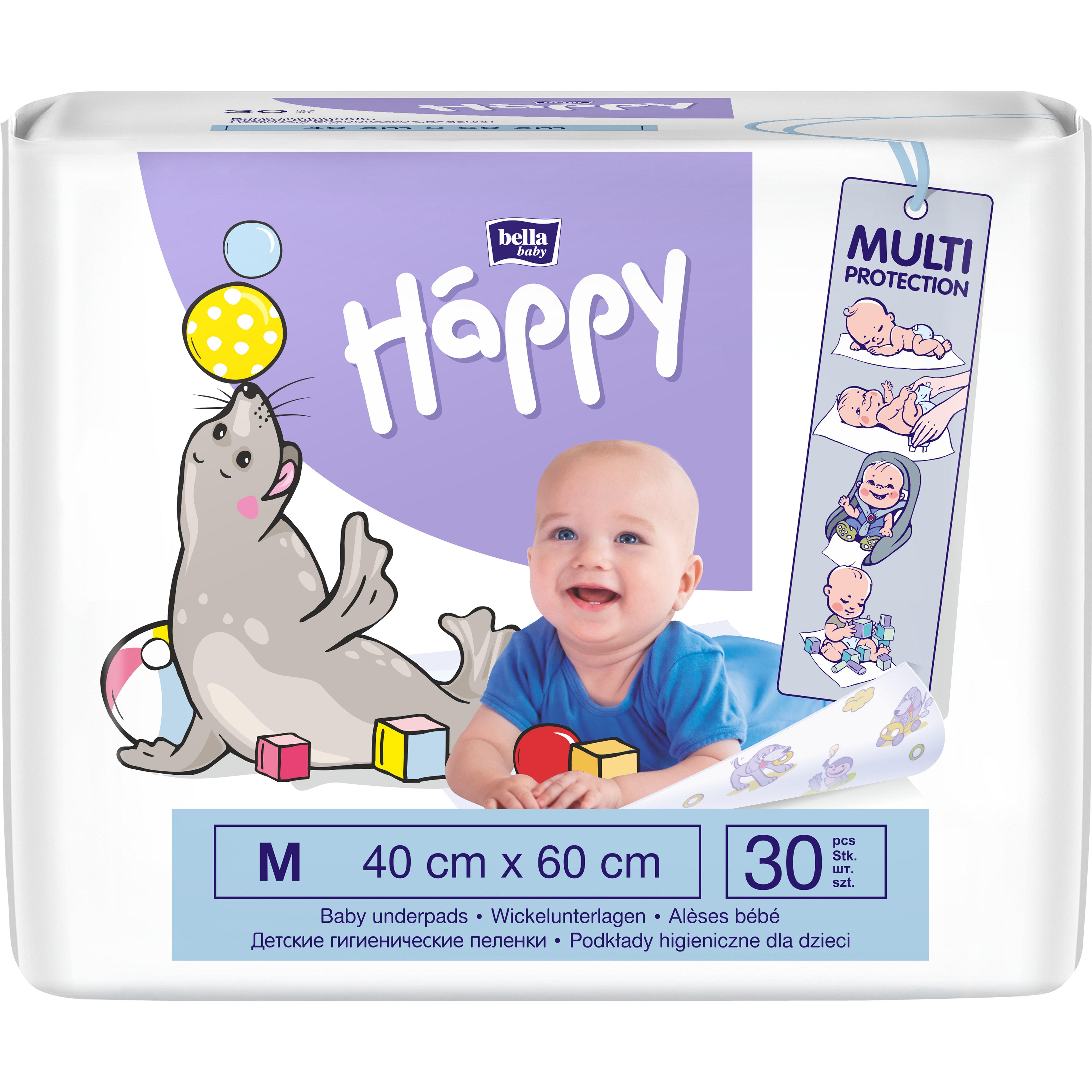 Bella Happy Dětské hygienické podložky 40x60cm 30ks