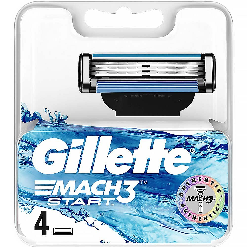 GILLETTE Mach3 Start hlavice k holicímu strojku 4 ks