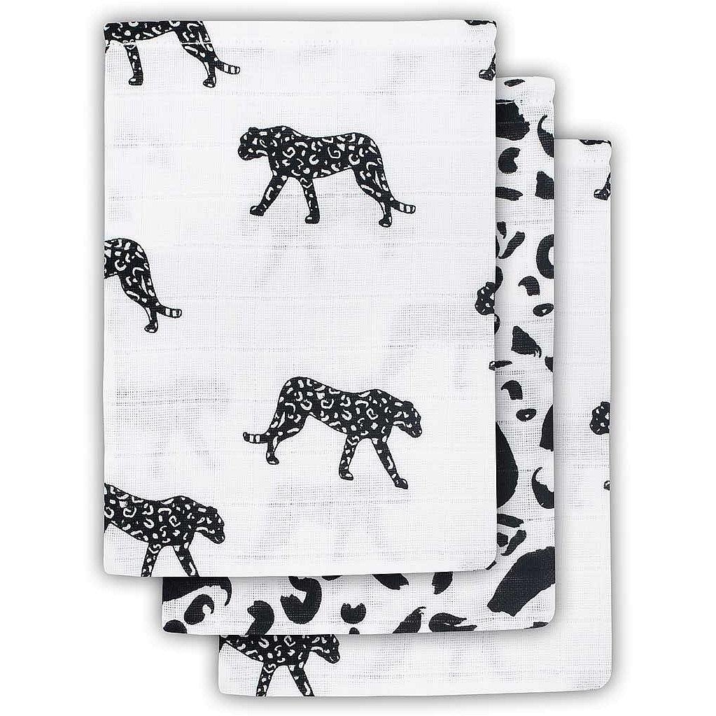 JOLLEIN Žínka balení 3 ks - Leopard black white