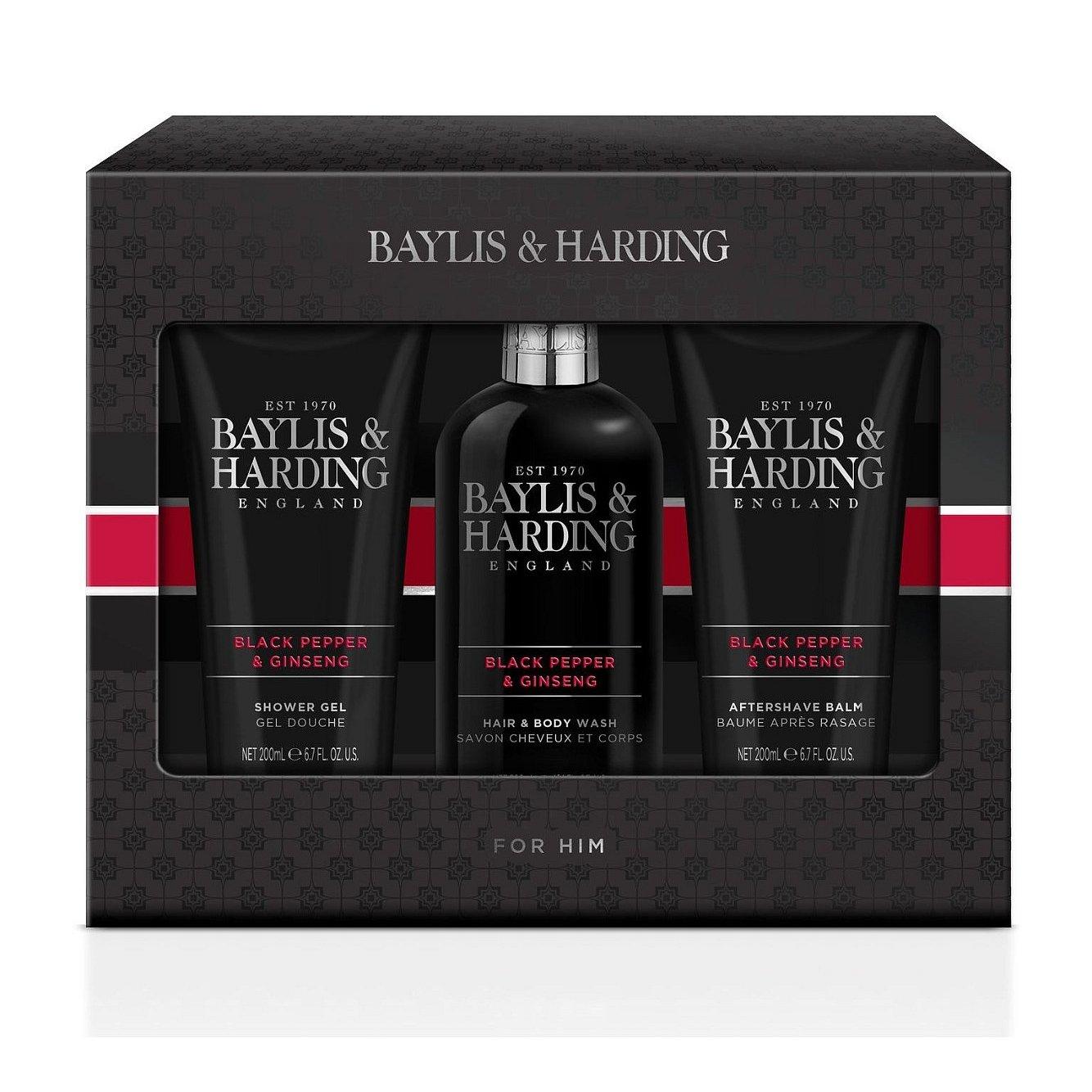 Baylis & Harding Pánská sada péče o tělo Black Pepper & Ginseng 3 ks