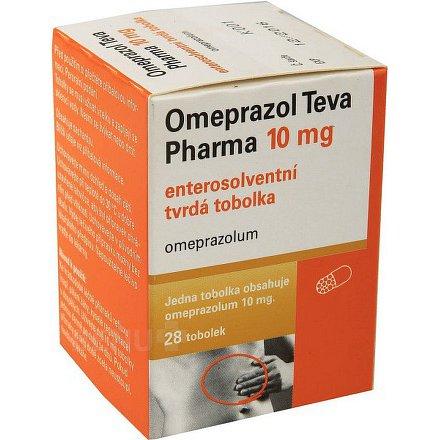 Omeprazol Teva Pharma 10 mg perorální orální tobolky enterosolventní tvrdá 28 x 10 mg