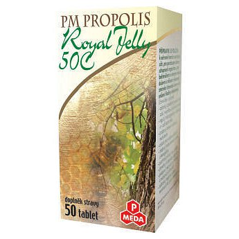 PM Propolis 50 C+Royal jelly tablety 50 x 500 mg
