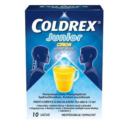 Coldrex Junior Horký nápoj Citron 10 ks
