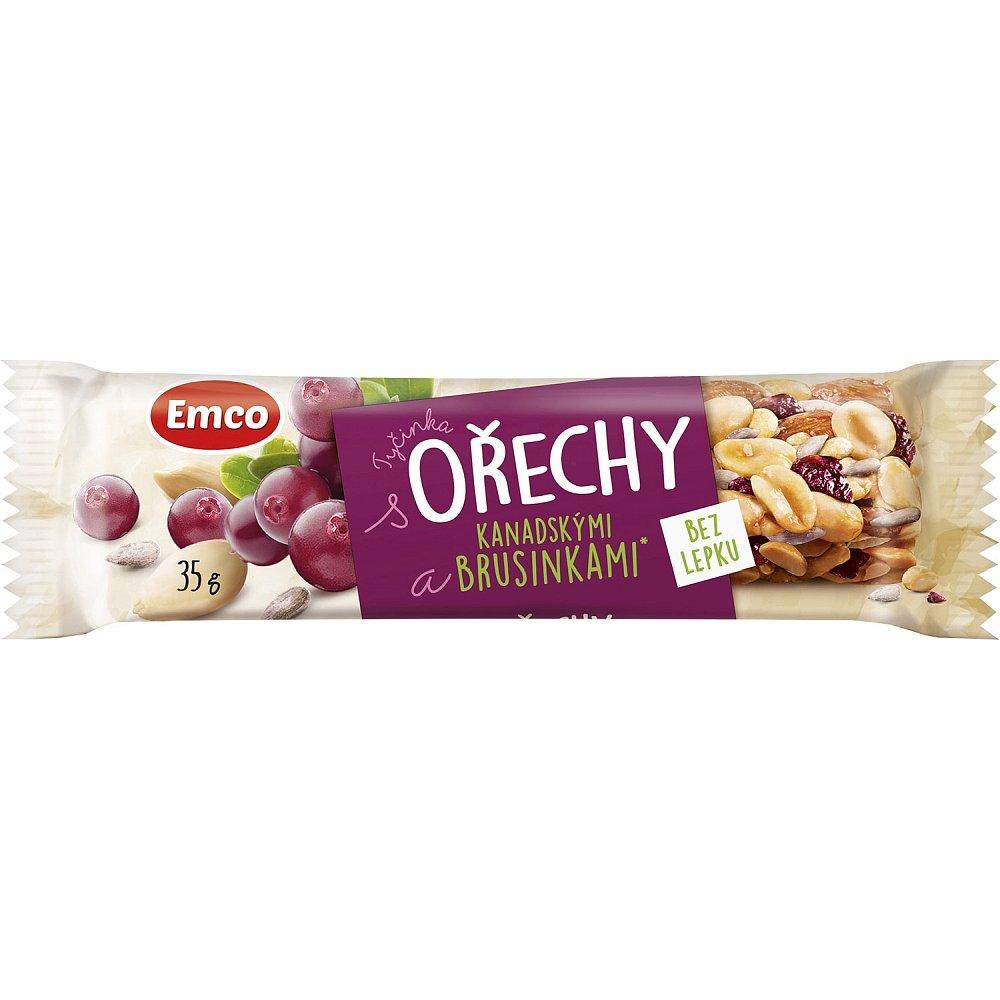 EMCO Tyčinka Ořechy a brusinka 35 g