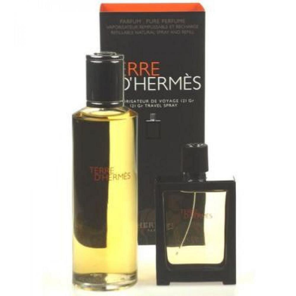 Hermes Terre D Hermes Parfum Parfem 125ml Parfém 30ml naplnitelný flakón + 125ml Parfém náplň