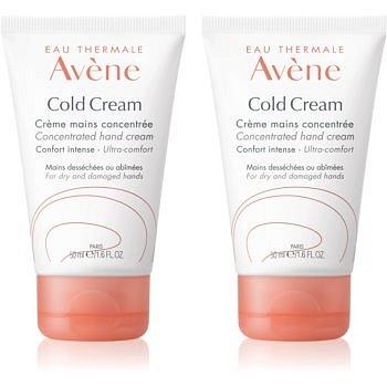 Avène Cold Cream krém na ruce pro suchou až velmi suchou pokožku  2x50 ml
