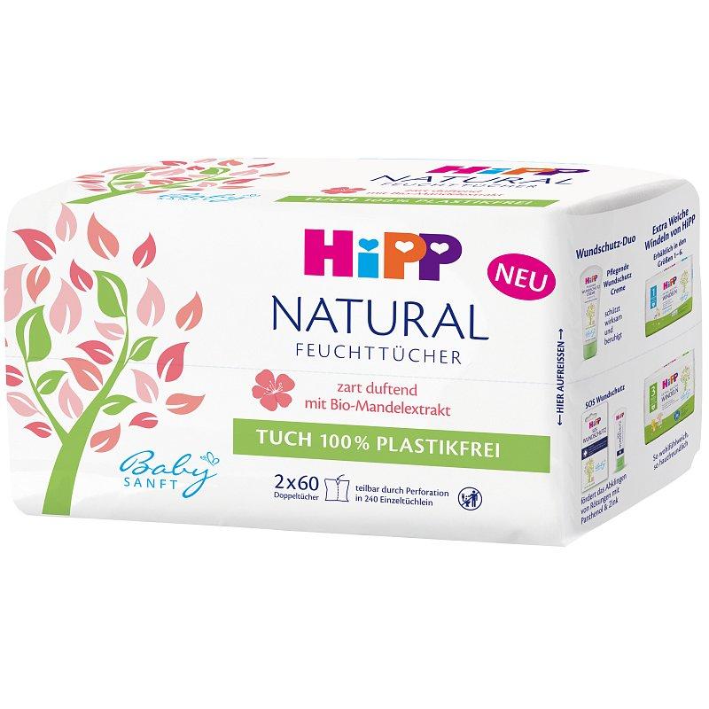 HIPP Babysanft Čistící vlhčené ubrousky Natural 10 ks